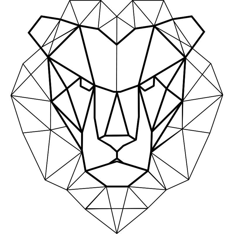 Sticker Tete De Lion En Origami Pas Cher Stickers Enfants Discount