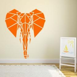 Sticker tête d'éléphant en forme géométrique