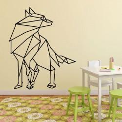 Sticker loup en origami