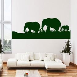 Sticker troupeau d'éléphant