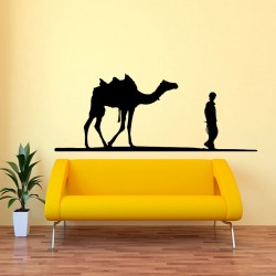 Sticker homme et chameau