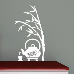 Sticker bambou et théière