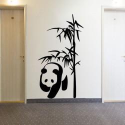Sticker panda et bambou