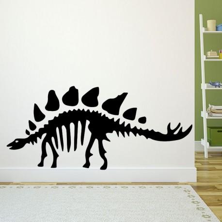 Sticker squelette d'un stégosaure
