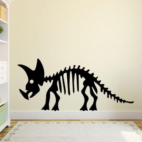 Sticker squelette d'un tricératops