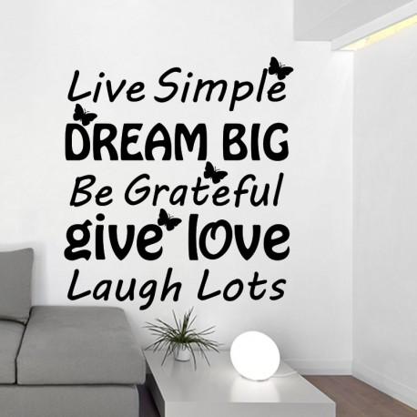 Sticker live simple,...