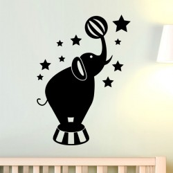 Sticker éléphant de cirque et des étoiles