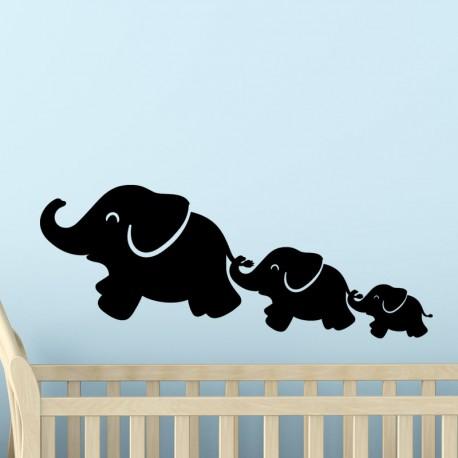 Sticker éléphant en train