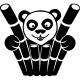 Sticker panda derrière des bambous