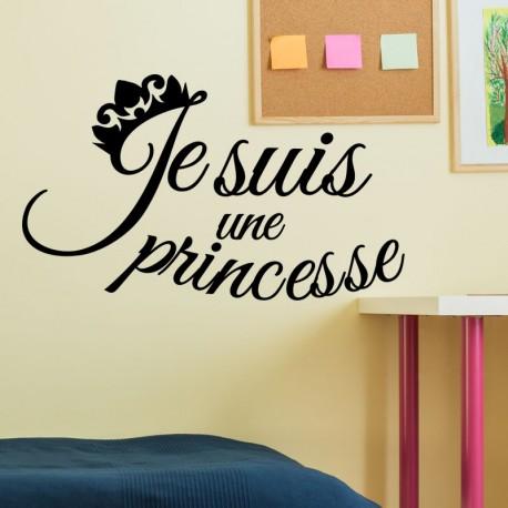 Sticker je suis une princesse
