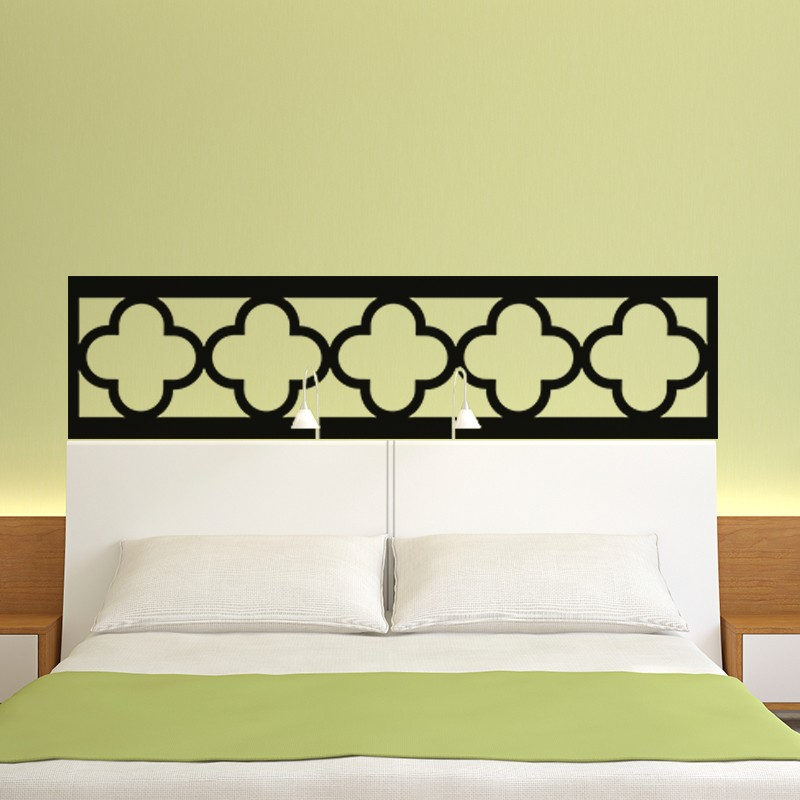stickers tete de lit oriental. Black Bedroom Furniture Sets. Home Design Ideas