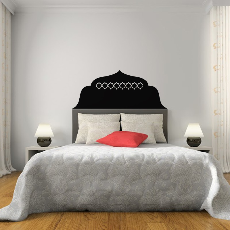 sticker t te de lit oriental 2 pas cher stickers. Black Bedroom Furniture Sets. Home Design Ideas