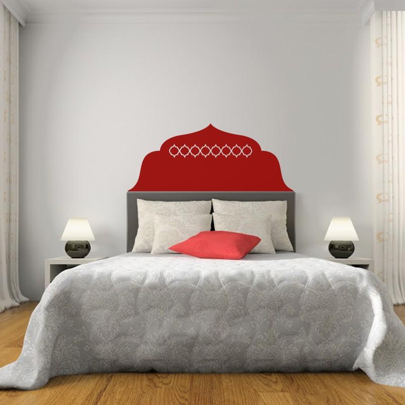 sticker t te de lit oriental 2 pas cher stickers. Black Bedroom Furniture Sets. Home Design Ideas