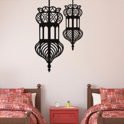 Sticker doubles lanternes orientales