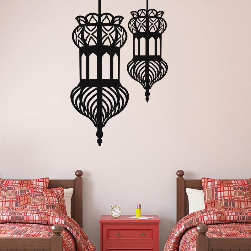 sticker doubles lanternes orientales pas cher stickers. Black Bedroom Furniture Sets. Home Design Ideas