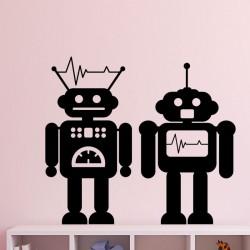 Sticker petits robots