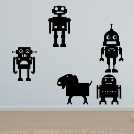 Sticker petits robots joyeux 2