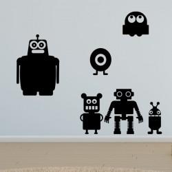 Sticker petits robots joyeux
