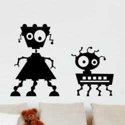 Sticker petits robots rigolos