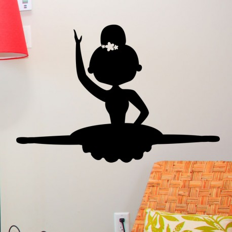 Sticker danseuse au grand-écart
