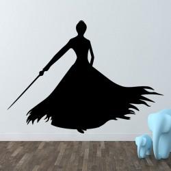 Sticker jeune femme avec un longue robe