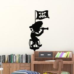 Sticker pirate avec une longue vue
