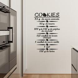 Sticker La recette de cookies