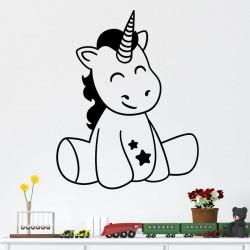 Sticker mignone petite licorne