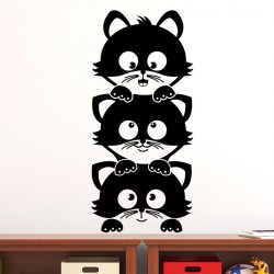 Sticker trois mignons petits chatons