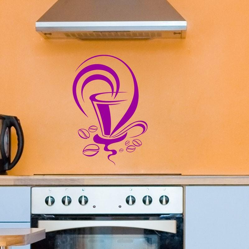 sticker design tasse de caf pas cher stickers design. Black Bedroom Furniture Sets. Home Design Ideas