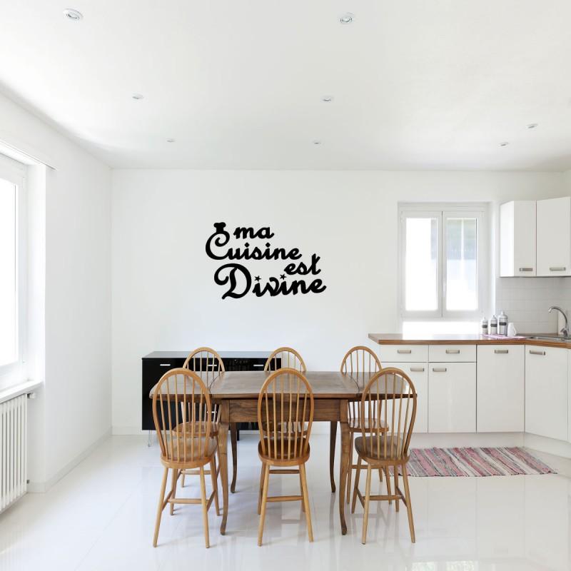 Sticker Ma Cuisine Est Divine Pas Cher