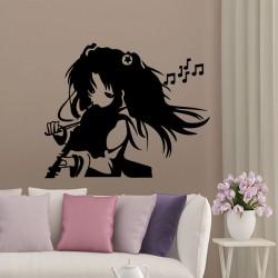 Sticker jeune fille jouant au violon