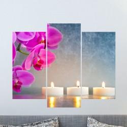 Sticker L'orchidée avec les bougies