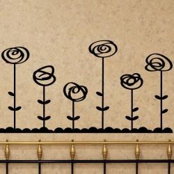 Sticker roses élégantes