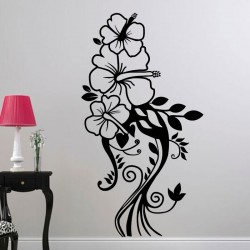 Sticker joli bouquet d'hibiscus