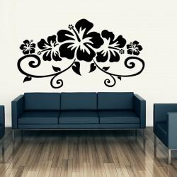 Sticker Belles fleurs hibiscus décoratives