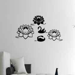Sticker lotus et cygne