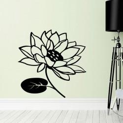 Sticker fleur en éclosion