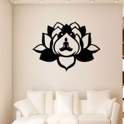 Sticker fleur de lotus yoga