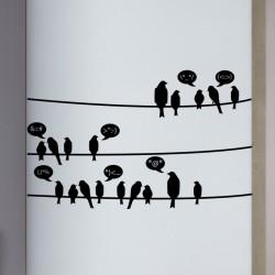 Sticker oiseaux en communication