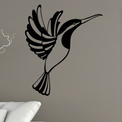 Sticker oiseau en plein vole