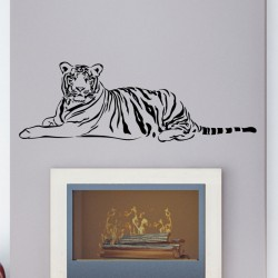 Sticker tigre couché