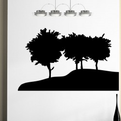 Sticker Les arbres sur la colline