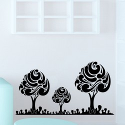 Sticker style d'arbres