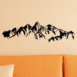 Sticker vue sur des montagnes en chaînes