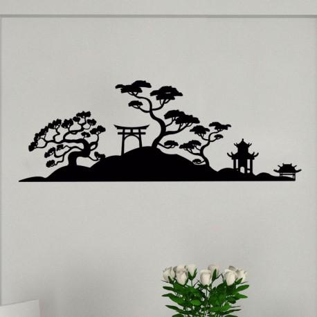 Sticker vue sur un magnifique paysage japonais