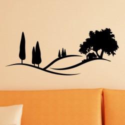 Sticker maison en pleine nature