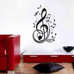 Sticker clés et notes de musique