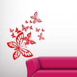 Sticker jolies papillons