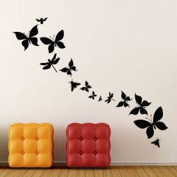 Sticker papillons et mouches